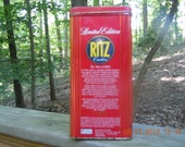 Limited Edition  Vintage Ritz Cracker Tin
