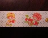 Adorable Vintage 1980's Strawberry Shortcake Ribbon,Satin  6 Yards Uncut