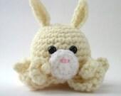 Cream Amigurumi Bunny Octopus