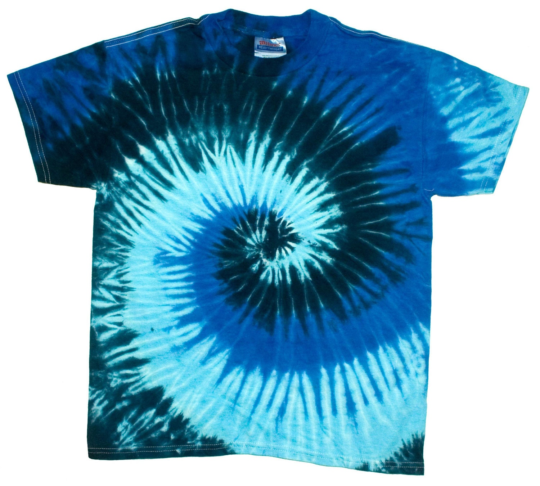Blue ocean pinwheel spiral new tie dye t shirt adult xl use for Custom tie dye t shirts