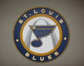 St. Louis Blues Wooden Sign