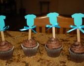 Baby Shower Cupcake Topper Onesie design