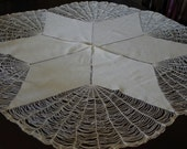 Decorative Tablecloth - Vintage Star Netting Detail