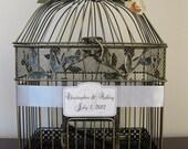 Bird Cage Wedding Card Holder Vintage Style / Wedding Card Holder Birdcage / Wedding Birdcage