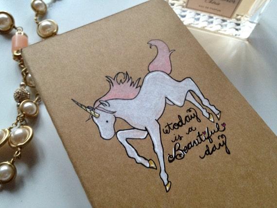 Beautiful Day Unicorn Moleskine Pocket Notebook