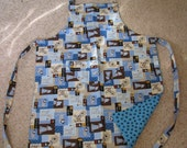 Reversible Puppies and Paw Prints Apron
