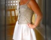 Simple Spring Flirty Summer Sun Dress L sz 10 12