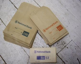 National Bank money pouches