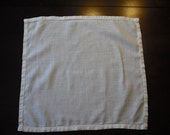 Simple Ivory Vintage Cotton Handkerchief