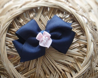 Blue bow hair clip hair accessory
