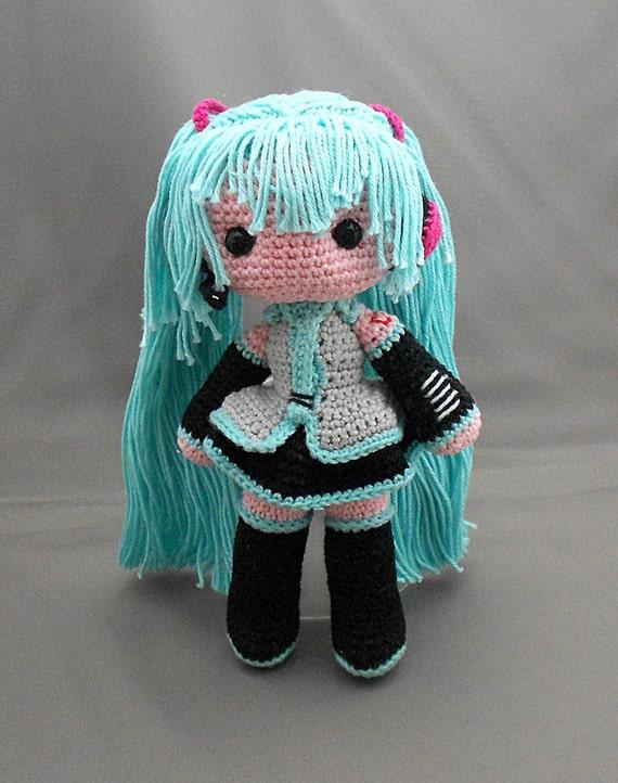 Items similar to Hatsune Miku amigurumi doll on Etsy