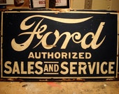 Ford Sales and Service Replica Sign