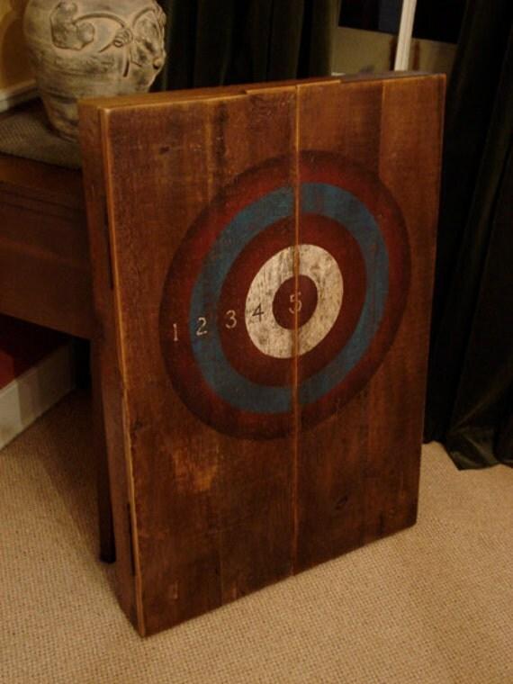 Rustic Dart Board Cabinet