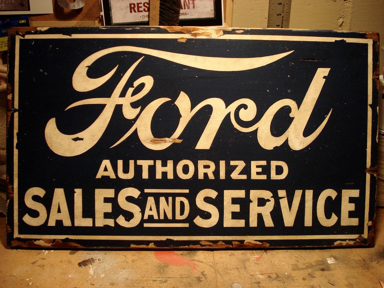 City service sign vintage