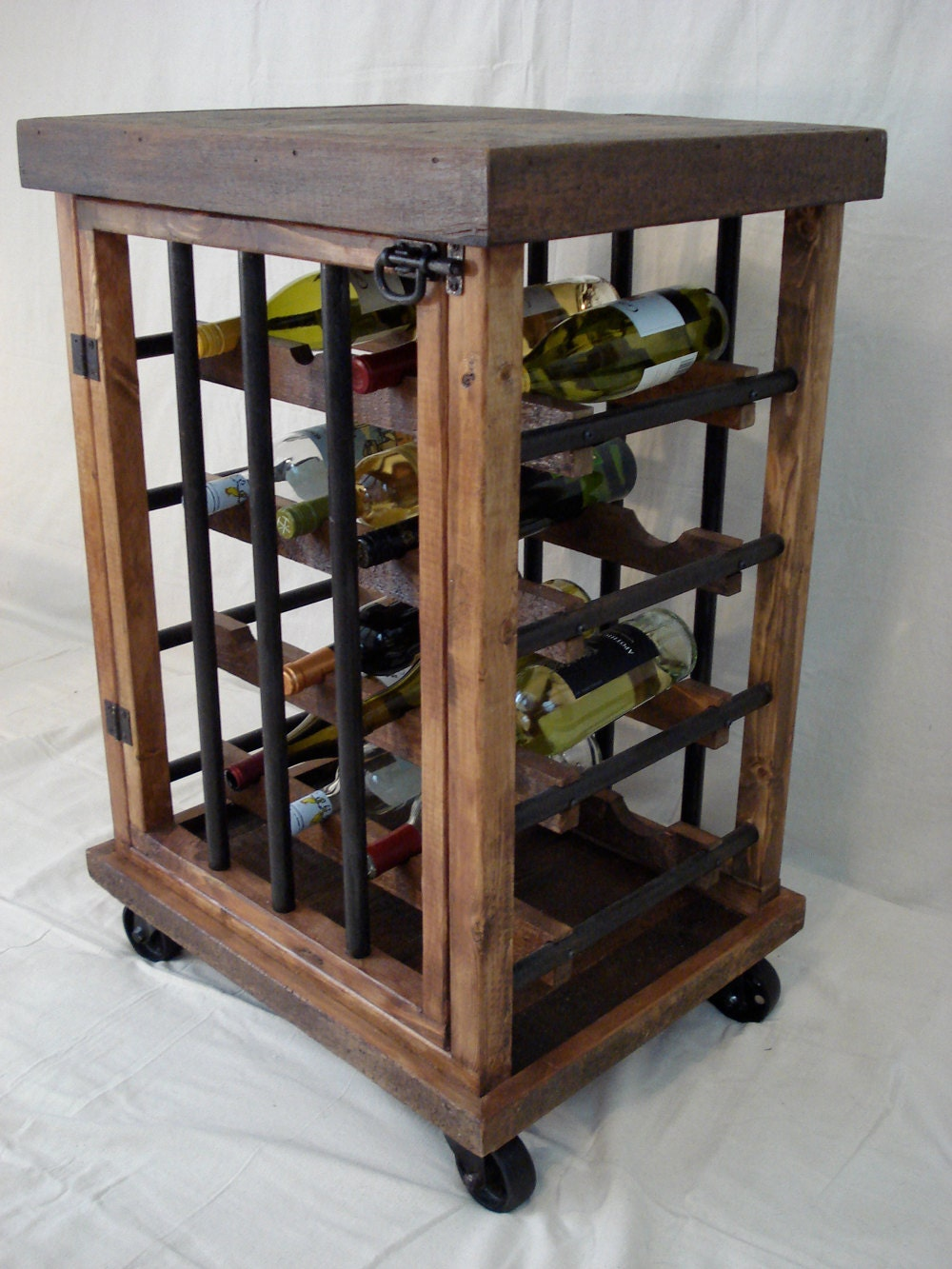 Rustic Wine Bottle Cabinet. Gallery Photo Gallery Photo ...