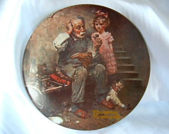 Sale - Collectors Plate - Norman Rockwell Heritage Collection - THE COBBLER - Vintage Closed 1978 - MINT- Sale