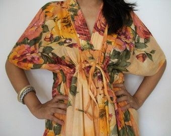 Floral Kaftan , Caftan, Kaftan, Perfect long dress, Spa Robe, For to be Moms, beach cover up, Sleepwear, Best Gift for her