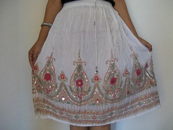 Indian Maxi Skirt, Gypsy Skirt, Bohemian Skirt, Short Skirt, Bollywood Skirt