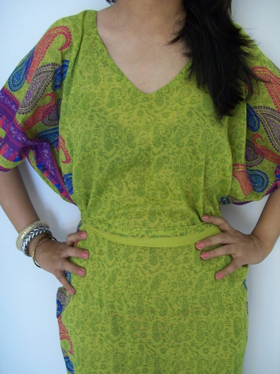 Paisley Kaftan Dress ,Perfect gift for her,Beachwear,Perfect for outings to be worn over jeans or leggings, lounges.