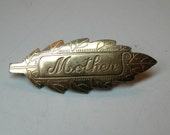 Handmade Vintage Gold Mother Pin