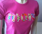 Mom T Shirt Letter Monogram Womens Happy Mothers Day