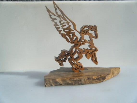 Handmade Scrollwork Pegasus
