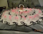 Large  Vintage Milk Filter Dress me Doll for Bed