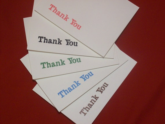Thank You Card Pack - Minimalist - set of ten 4.25x 5.5 (A2) handcrafted cards