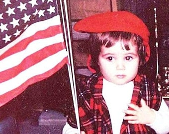 Patriot Baby Vintage Mid Century Photo JPG Print File or Matted Fine Art Print
