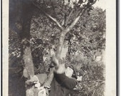 Vintge Photo Flapper Lady Posing/Falling from Tree - Old Photo/Snap Shot for Collector, Mixed Media Artist, etc...b557