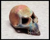 OOAK raku skull