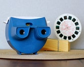 1970's Sawyers GAF Lighted Viewmaster with Reel- Blue View Master - Model 12