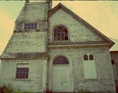 Abandoned  Church Photograph Aged and Weathered by Jodi Ohl 5 x 7 Amish Country