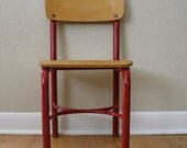 RESERVED FOR ADAM Child's Heywood Red Metal Chair