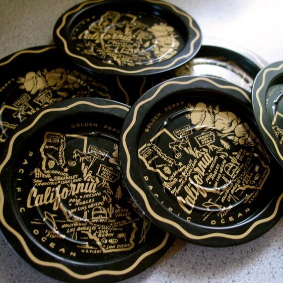 Vintage California Metal Coasters