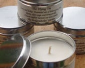The Flying tin.   A  Natural Wax Candle