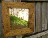 handmade decorative antiqued mirror in solid wood frame