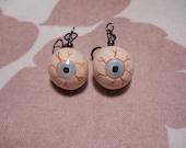 FREE SHIPPING Eye See You baby blue funky fun eyeball earrings'