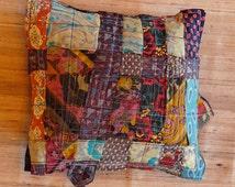 EDREDON -- Triangles Flowers & Paisley Medium  Throw Pillow