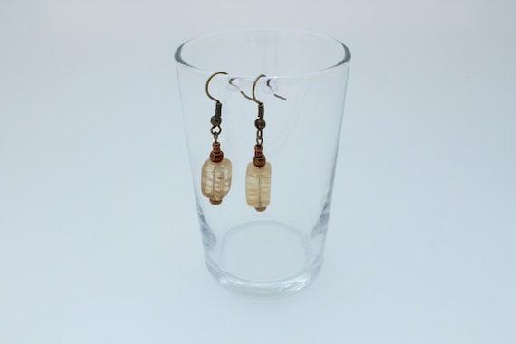 Earrings Amber Quartz Dangle