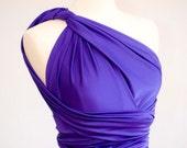 Convertible Dress, Infinity Dress in Purple, Size Small/Medium, Ready to Ship, Ship Ready