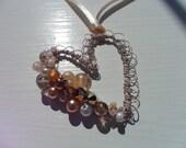 Scottish Lace Effect Vintage Styled Beaded Necklace