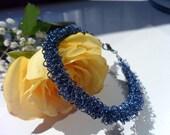 Scottish Dark Blue Wire Bracelet