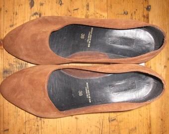 Brown Suede  vintage shoes