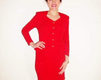 Red 80's Dress