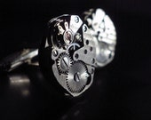 CUFFLINKS  cuff links - Waltham watch - mens jewelry - by LC Collection