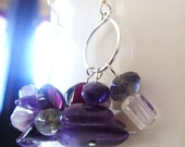 Sale / Clearance Sterling Silver with purple stones