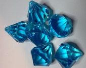 Acrylic Blue Diamond Gems
