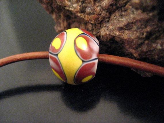 Venetian antique African trade bead, Bubble bead