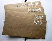Budgeting Envelopes - Set of 4